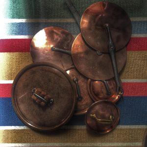 Copper Cookware at Cookery School Puglia